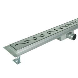 Odpływ liniowy SANITLINE model ORIENT 90 cm niski syfon 52 mm