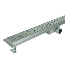 Odpływ liniowy SANITLINE model DROPS 80 cm niski syfon 52 mm