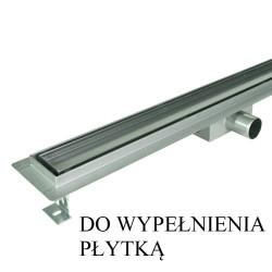 Odpływ liniowy SANITLINE model CERAMIK 120 cm niski syfon 52 mm