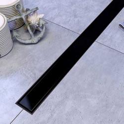 Odpływ liniowy SANITLINE model CZARNY MAT 2w1 70 cm
